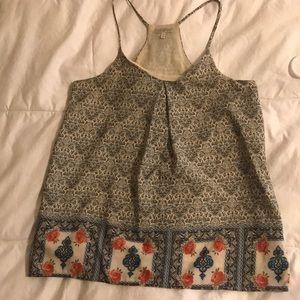 Mediterranean patterned blouse